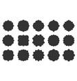royal retro blank vignette text frame tag set vector image vector image