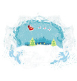 Santa Claus flying over city - Abstract Christmas vector image vector image