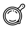 saute pan icon outline style vector image