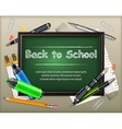 School blackboard and stationery vector image