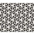 Seamless Black And White Hexagonal vector image vector image