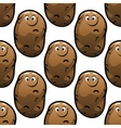 Seamless pattern of cartoon potatoes vector image vector image