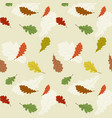 seamless pattern with the oak leaves vector image vector image