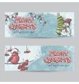 set horizontal banners for christmas and the vector image