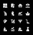 Set icons of cleaning vector image vector image