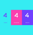 set number 4 minimal logo icon design template vector image vector image