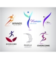 set of man logo human body stylized vector image vector image