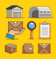 set of packaging and logistic symbol vector image