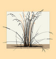 silhouette dry steppe grass vector image vector image