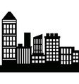 silhouette skyscrapers building city architecture vector image vector image