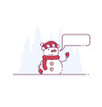 snowman and call-out vector image vector image