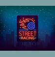 street racing billboard logo emblem template vector image