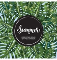 Summer poster Hand lettering Text with black vector image vector image