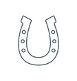 thin line horseshoe icon vector image vector image