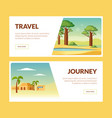 travel journey horizontal banners set summer vector image vector image