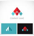 triangle arrow pyramid company logo vector image vector image