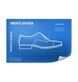 wireframe with shoe drawing vector image