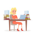 working business woman at vector image vector image