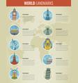 world landmarks infographics set travel and vector image