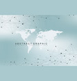world map with global technology networking vector image vector image