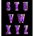 Golden alphabet with crystals vector image
