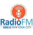 radio fm symbol vector image