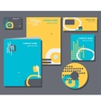Corporate identity business set design vector image