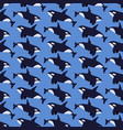 killer whale flat seamless pattern vector image