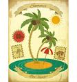 Retro Vintage Grunge Summer Vacation Postcard vector image