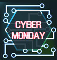 sale technology banner for cyber monday vector image