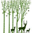 Birch Tree with Deer vector image