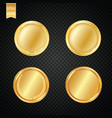 a set of gold award medals isolated on white vector image vector image