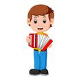 accordion piano player vector image vector image