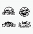 adventure logo badges 2 vector image vector image