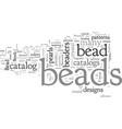 bead catalog vector image vector image