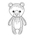 bear cute wildlife icon vector image