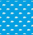 bear pattern seamless blue vector image vector image