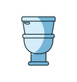 blue shading silhouette of toilet icon in front vector image vector image