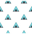 blue tent pattern flat vector image vector image