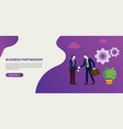 business partnership business deal in the website vector image