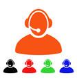 call center operator icon vector image vector image