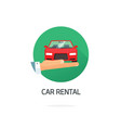 car or automobile rental symbol in flat vector image vector image