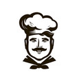 chef logo cuisine cooking icon or symbol vector image vector image
