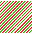 christmas diagonal striped red and green lines vector image