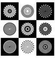circle design elements set vector image vector image