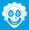 clown icon white vector image vector image