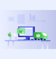 concept of e-commerce vector image vector image