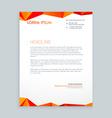 creative modern poly letterhead design vector image vector image