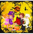Cute colorful Halloween kids in costume for party vector image