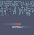 cyber monday background sale technology banner vector image